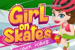 Girl on Skates: Flower Power